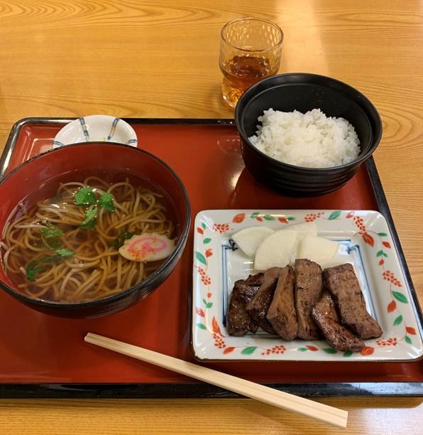 仙台空港 牛タン・そばセット