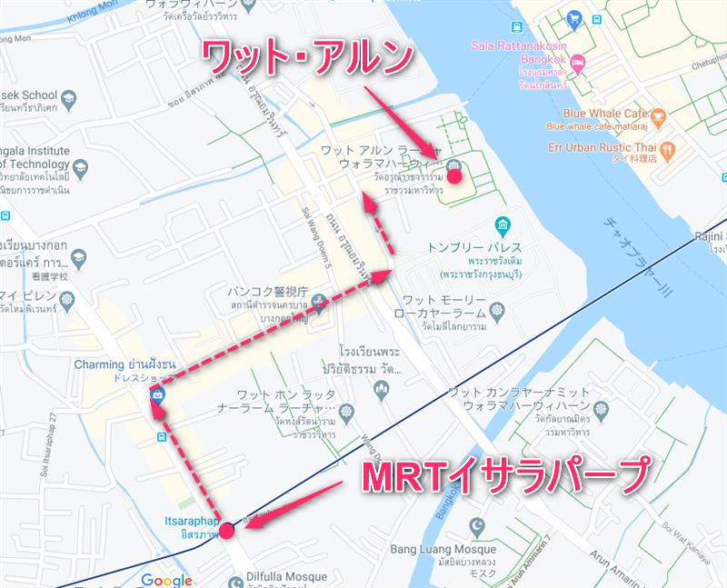 ワット・アルン地図