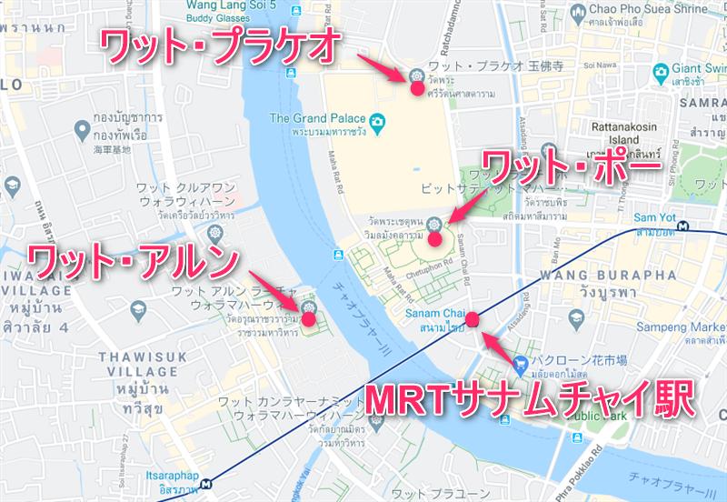 ワット・ポー地図